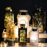 Brass Lantern With LED Micro Lights | L J Home