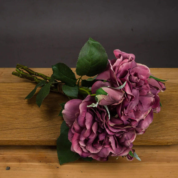 Dusty Pink Short Stem Rose Bouquet | L J Home