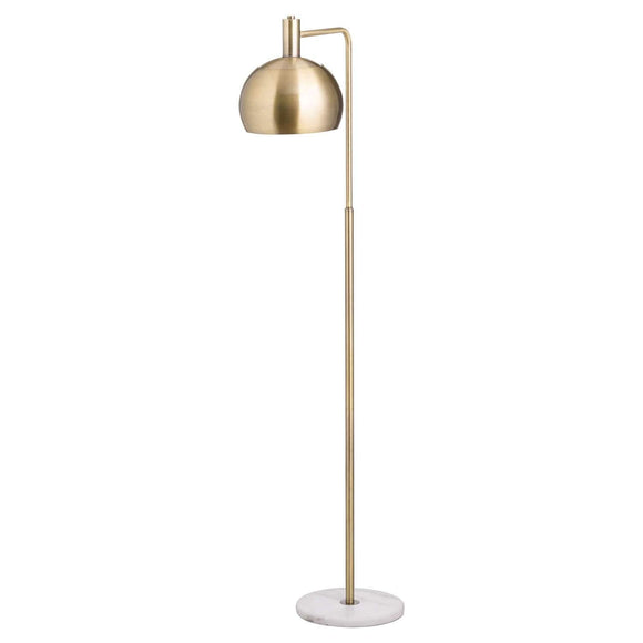 Marble And Brass Industrial Adjustable Floor Lamp