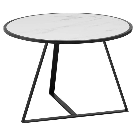 Grey And Marble Low Side Coffee Table | L J Home