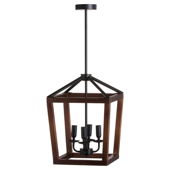 Large Wooden Coach Lantern Hanging Pendant Light