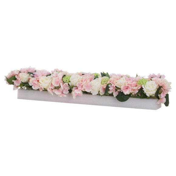 Pink Dahlia Table Runner