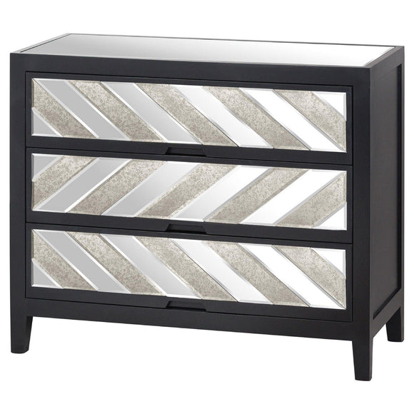 Soho Black Collection 3 Drawer Chest