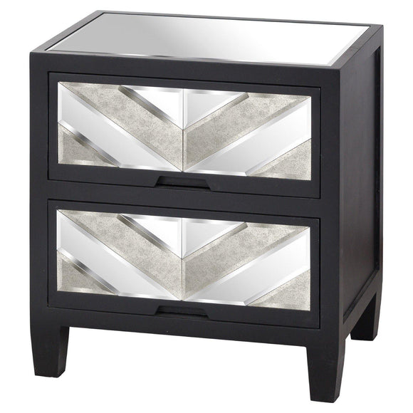 Soho Black Collection 2 Drawer Bedside