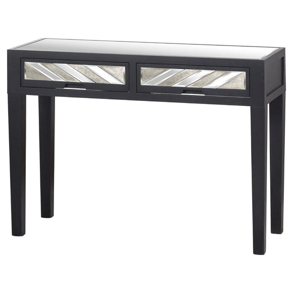 Soho Black Collection 2 Drawer Console
