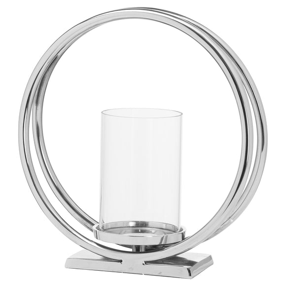 Ohlson Silver Twin loop Candle Holder