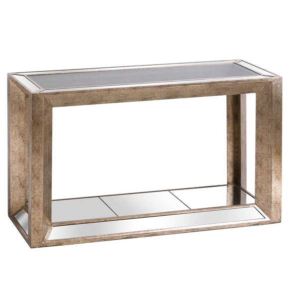Augustus Mirrored Console Table with Shelf