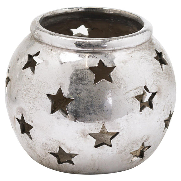 Aspen Medium Star Tea Light Lantern | L J Home