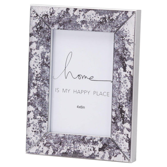 Black Foil Metallic 4X6 Frame | L J Home