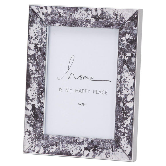 Black Foil Metallic 5X7 Frame | L J Home