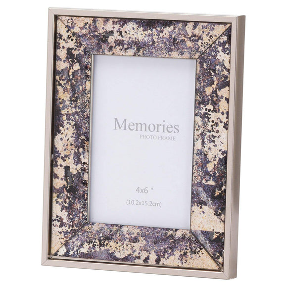 Bronze Foil Metallic 4X6 Frame | L J Home
