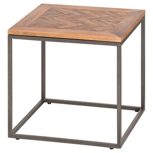 Hoxton Collection Side Table With Parquet Top
