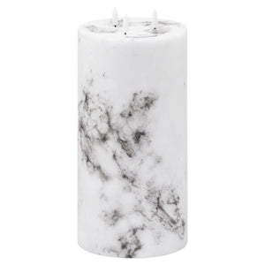Luxe Collection Natural Glow 6x12 Marble Effect LED Candle