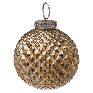 The Noel Collection Burnished Christmas Bauble | L J Home