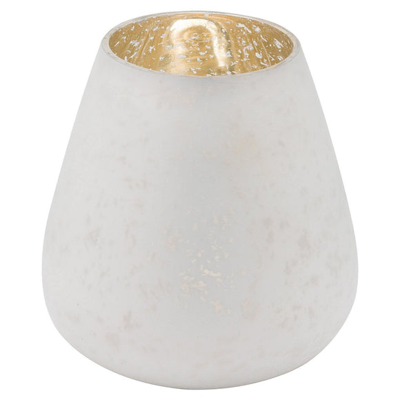 The Noel Collection White Etched Candle Holder Large | L J Home