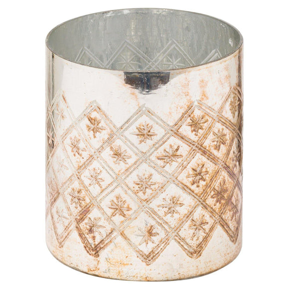 The Noel Collection Burnished Pillar Candle Holder | L J Home