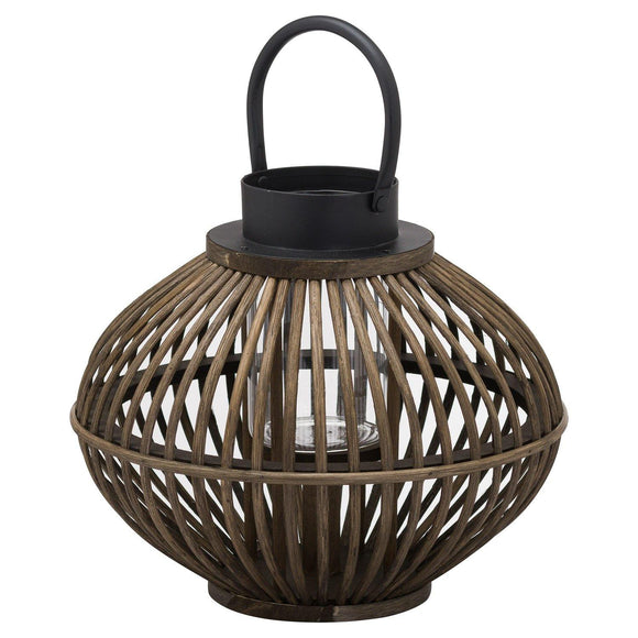 Brown Bamboo Style Lantern | L J Home