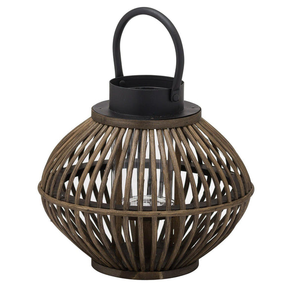 Brown Bamboo Style Large Lantern | L J Home