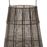 Large Wire Glowray Conical Lantern | L J Home