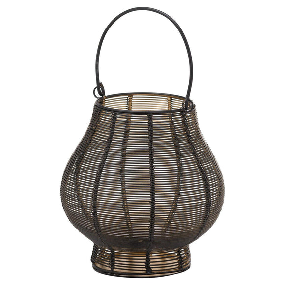 Medium Glowray Bulbous Wire Lantern | L J Home