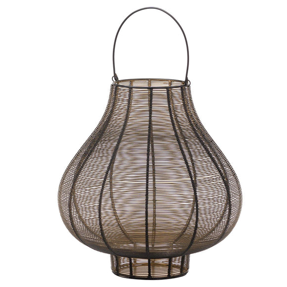 Large Glowray Bulbous Wire Lantern | L J Home