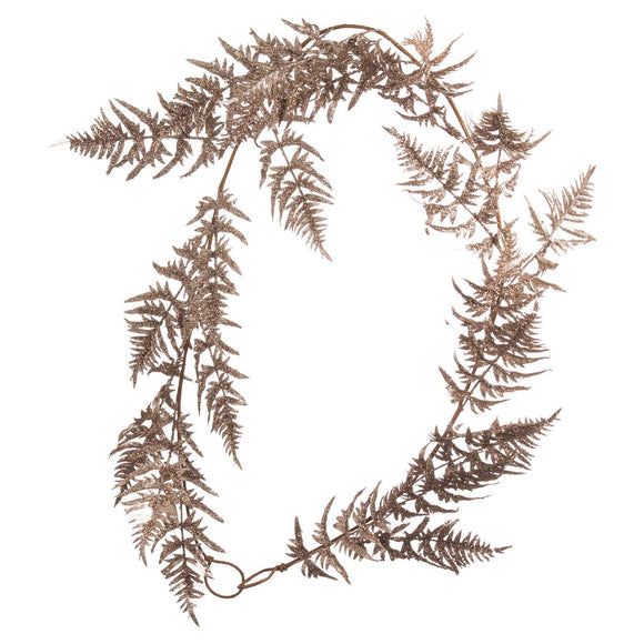 Antique Silver Faux Fern Garland | L J Home