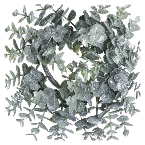 Small Frosted Eucalyptus Candle Wreath | L J Home