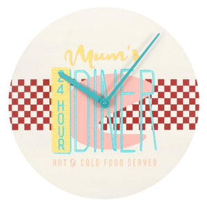 24 Hour Mum's Diner Wall Clock | L J Home
