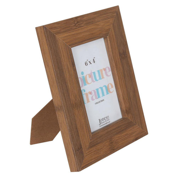 6X4 Dark Wood Effect Photo Frame