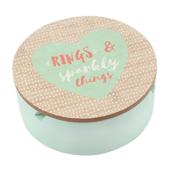 'Rings & Sparkly Things' Jewellery Box