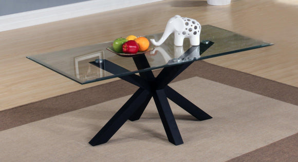 Langley Gloss Coffee Table Black | L J Home