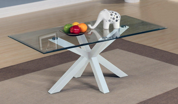 Langley Gloss Coffee Table White | L J Home