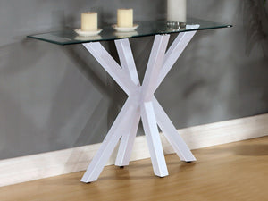 Langley Gloss Console Table White | L J Home