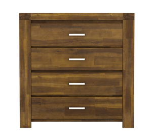 Parkfield Solid Acacia Chest 4 Drawer | L J Home