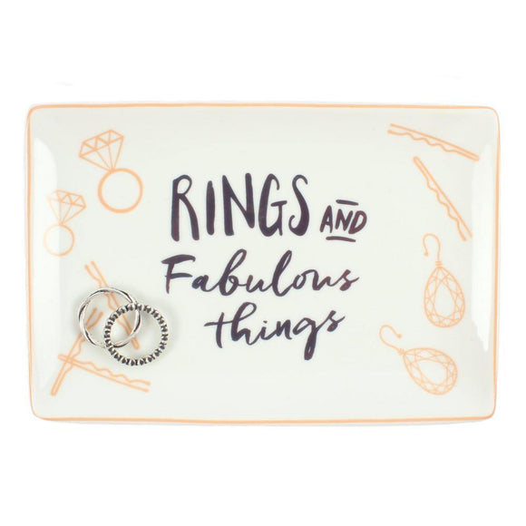 'Rings and Fabulous Things' Jewellery Dish