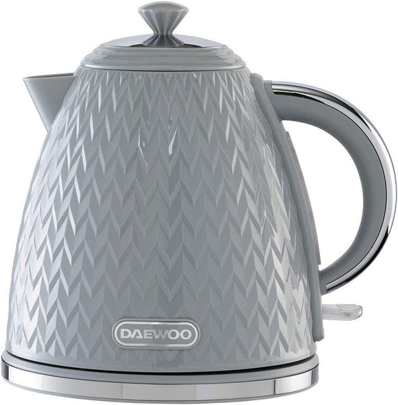 Daewoo Argyle 1.7Lt Grey Kettle 3KW with Removable Limescale Filter | L J Home