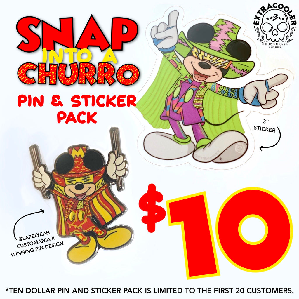 Macho Mouse Pin & Sticker Pack