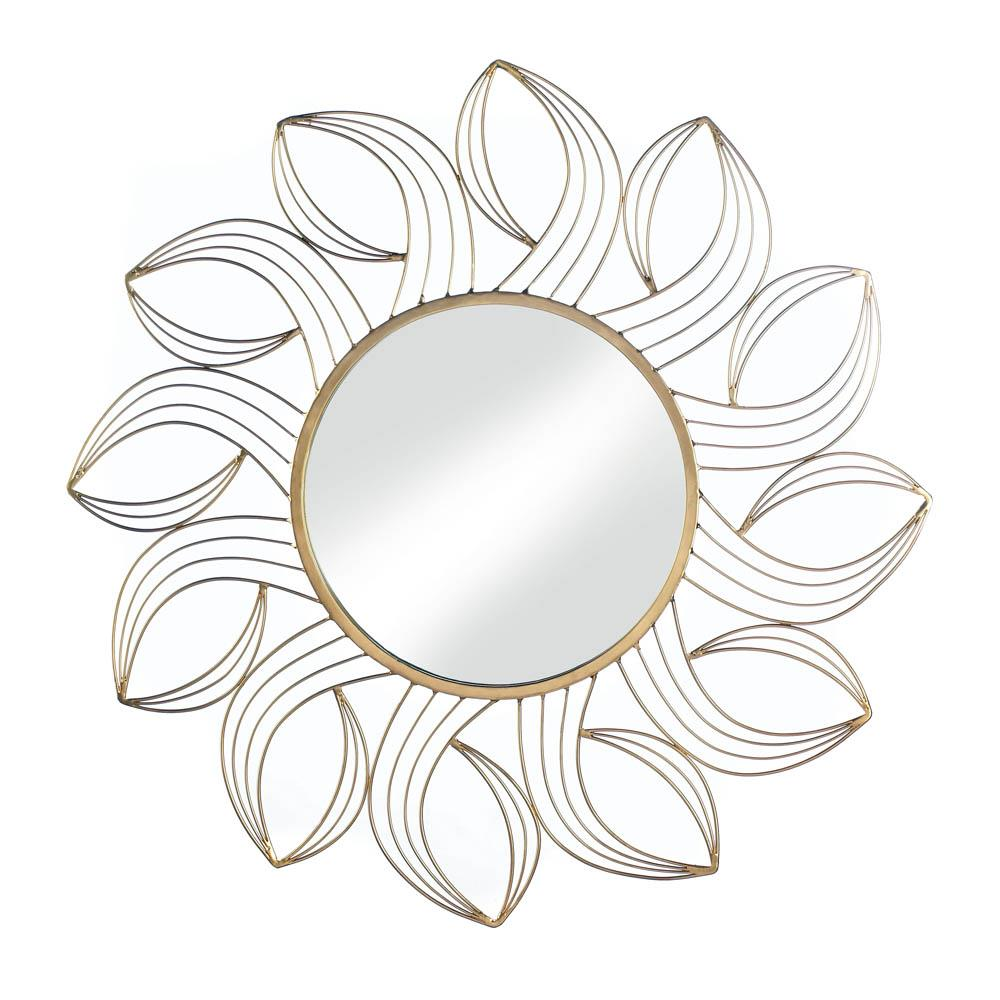 Golden Petal Wall Mirror