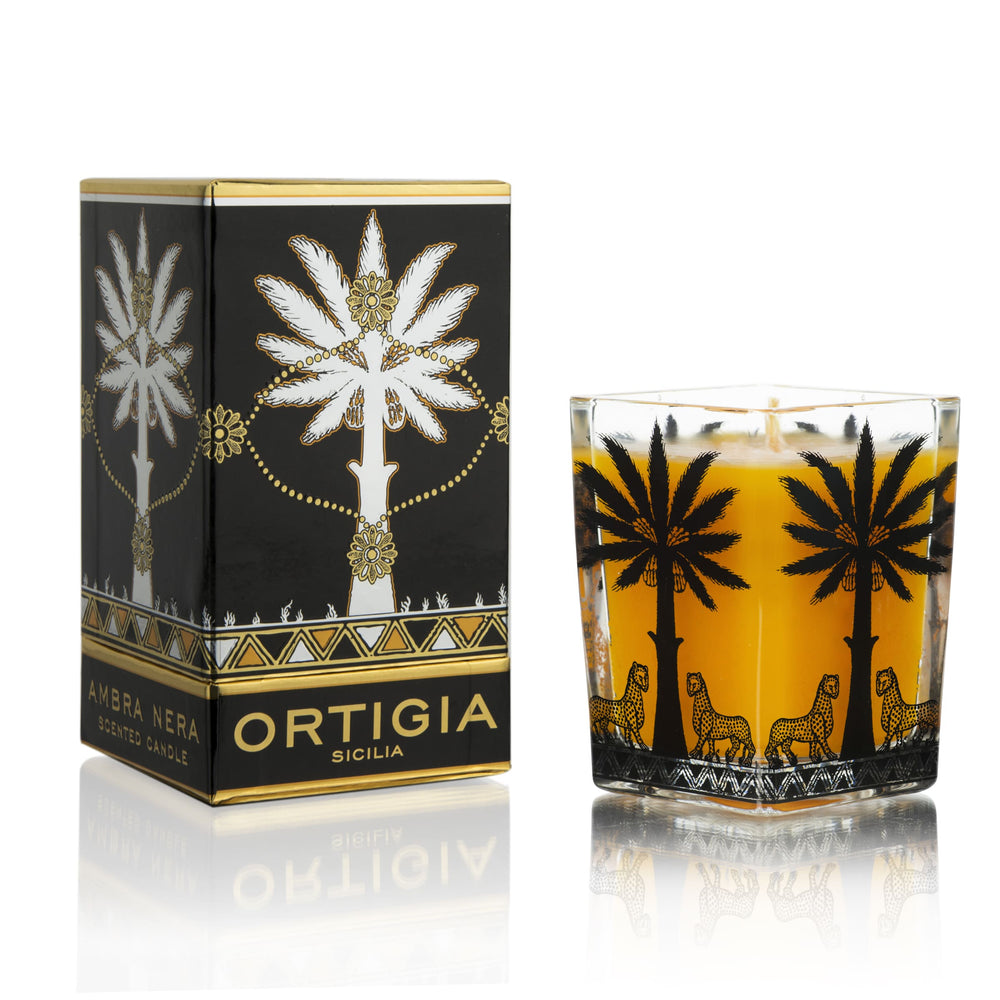 AMBRA NERA LARGE SQUARE CANDLE