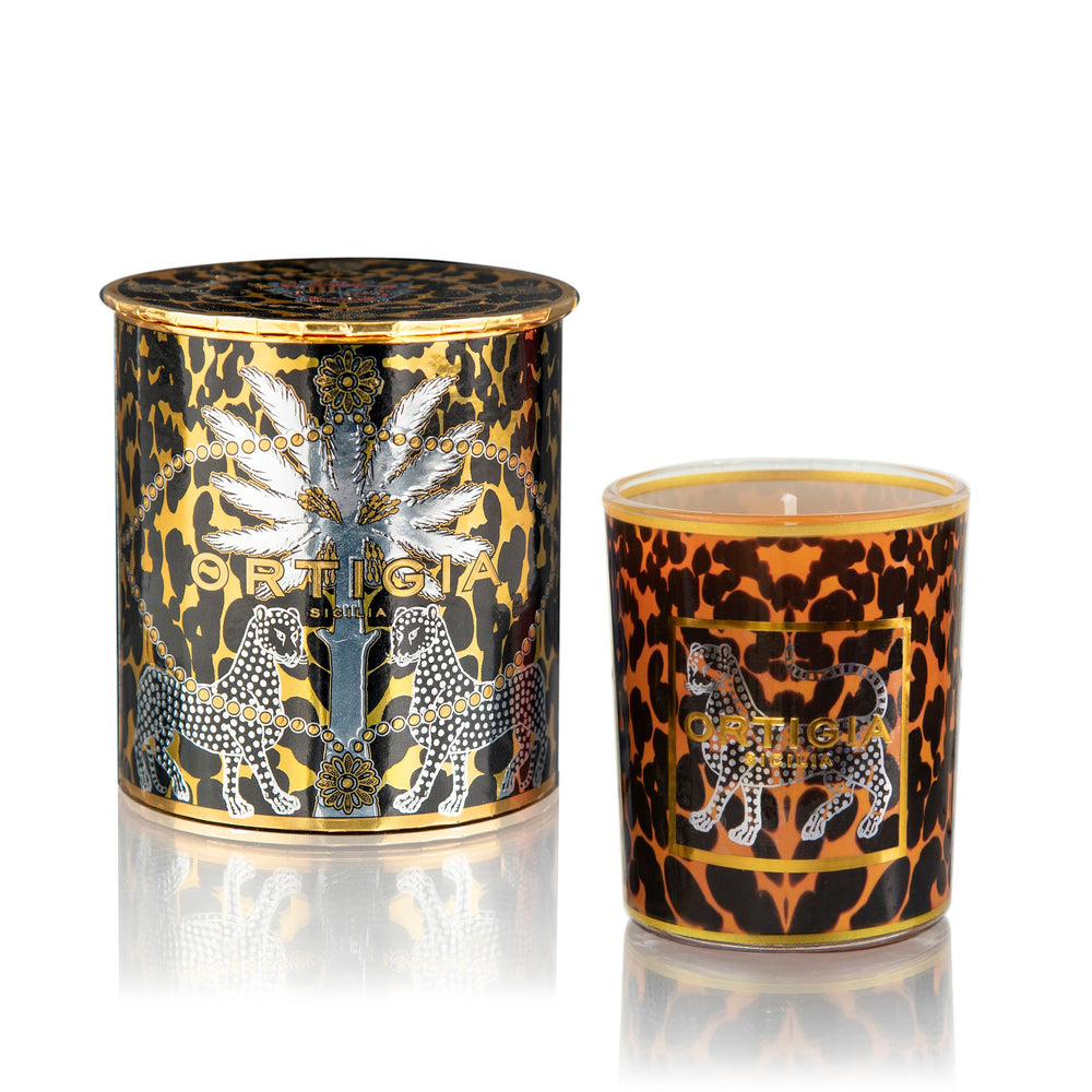 AMBRA NERA DECORATED CANDLE