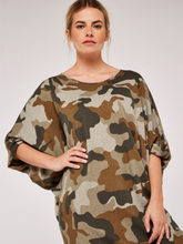 Load image into Gallery viewer, Stone Camouflage Sweater Dress