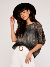 Load image into Gallery viewer, Stone Mesh Oversized Blouse