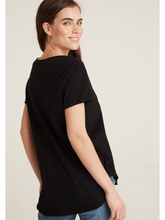 Load image into Gallery viewer, Raw Edge V-Neck Tee