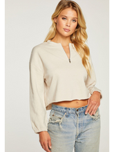 Load image into Gallery viewer, Cashmere Fleece Blouson Half Zip Pullover
