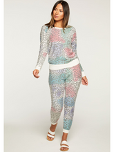 Load image into Gallery viewer, Bright Painted Leopard Knit Jogger