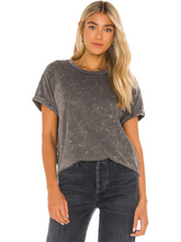 Load image into Gallery viewer, Vintage Recycled Jersey Rolled Sleeve Crew Tee