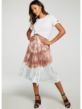 Load image into Gallery viewer, Silky Faux Wrap Tie Dye Midi Skirt