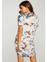 Load image into Gallery viewer, Button Down Tie Dye Mini Dress