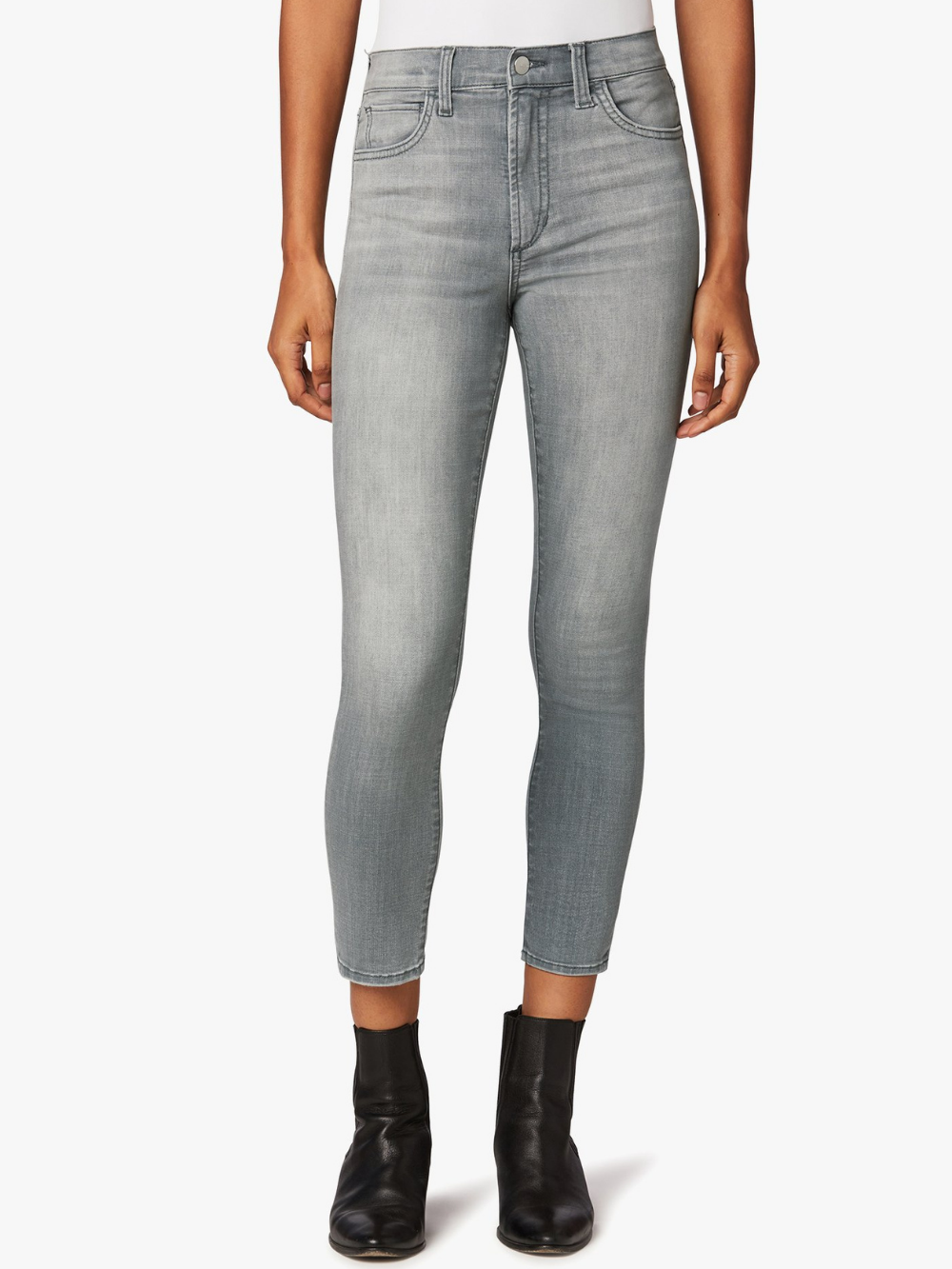 Charlie High Rise Skinny Crop - Solituded