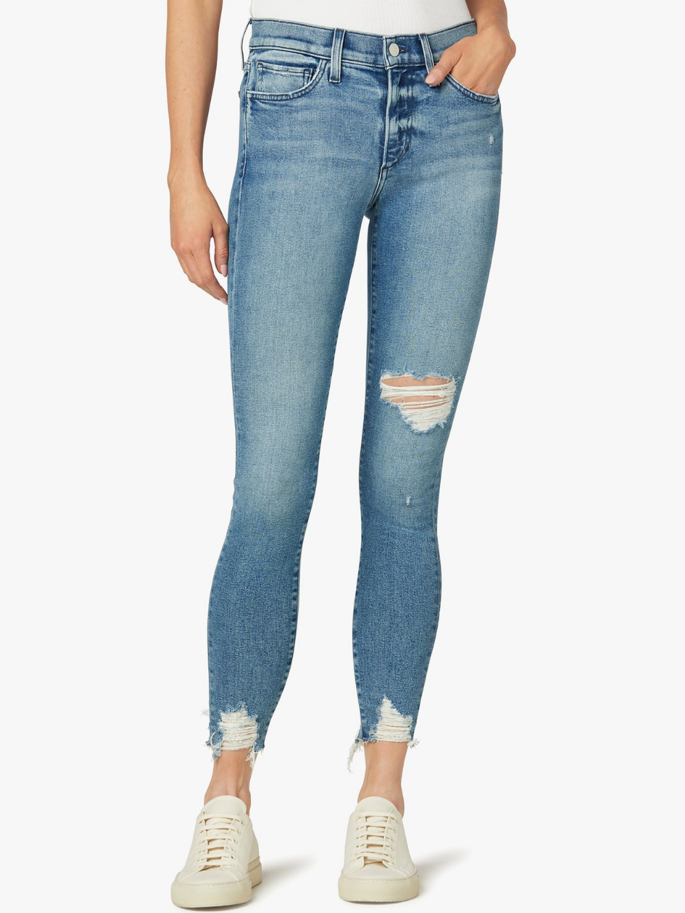 Icon Mid Rise Skinny Ankle - Rookie